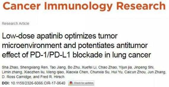 圖片來源:Cancer Immunology Research官網截圖