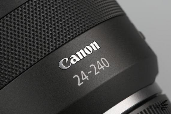 "CanonRF24-240mm f/4-6.3 IS USM焦段標識以及""Canon""logo"