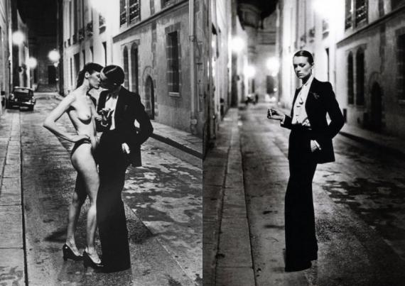 PHOTO/ Yves Saint Laurent's Le Smoking,by Helmut Newton, 1975