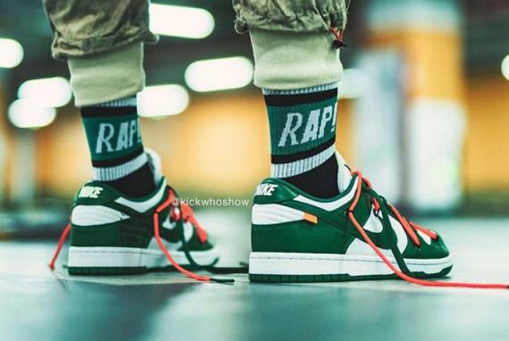 Off-White-Nike-Dunk-Low-Pine-Green-CT0856-100-on-foot-shot7