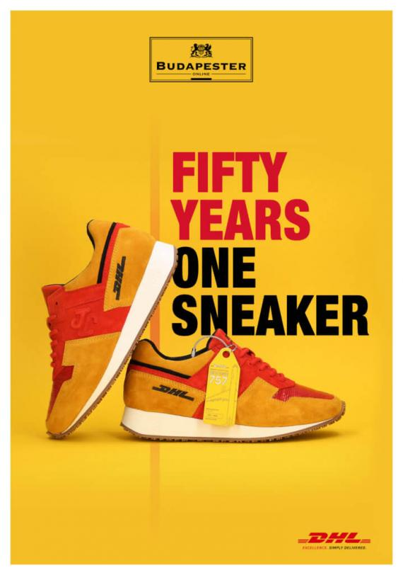 To mark the occasion of the 50th anniversary of DHL Express, mybudapester.com, a retailer for designer brands and the logistics company DHL Express, are exclusively launching their own sneaker. The DHL 1 sneaker is of 300 limited edition pairs and costs 300 euros. Editorial use of this picture is free of charge. Please quote the source: